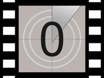 Cuenta descendiente de la película Imagenes de archivo