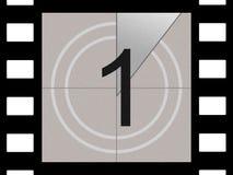 Cuenta descendiente de la película Foto de archivo libre de regalías