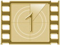 Cuenta descendiente de la película Imagen de archivo libre de regalías
