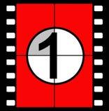 Cuenta descendiente de la película Fotos de archivo libres de regalías