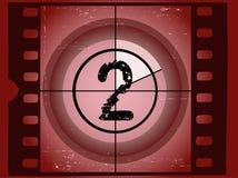 Cuenta descendiente de la película - en 2 stock de ilustración