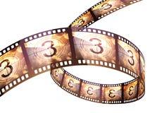 Cuenta descendiente de la tira de la película Foto de archivo libre de regalías