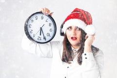 Cuenta descendiente del concepto del Año Nuevo de la Navidad a la medianoche Modelo XXL en s Imagen de archivo
