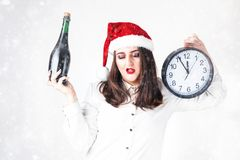 Cuenta descendiente del concepto del Año Nuevo de la Navidad a la medianoche Modelo XXL en s Imagen de archivo libre de regalías