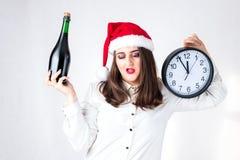 Cuenta descendiente del concepto del Año Nuevo de la Navidad a la medianoche Modelo XXL en s Foto de archivo