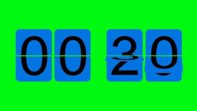 Cuenta descendiente del reloj del tirón - efecto de pantalla verde ilustración del vector