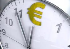 Cuenta descendiente euro de la moneda stock de ilustración