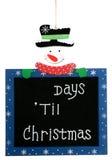 Cuenta descendiente hasta la Navidad fotografía de archivo