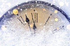 Cuenta descendiente a la medianoche Foto de archivo