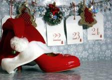 Cuenta descendiente a la Navidad Imágenes de archivo libres de regalías