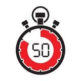 Cuenta descendiente minuciosa del cronómetro cincuenta libre illustration