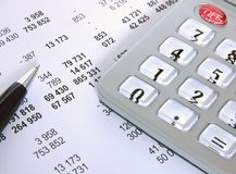 Cuenta financiera Foto de archivo libre de regalías