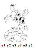 Cuenta para los pequeños niños con una liebre de Pascua - ejemplo ilustración del vector