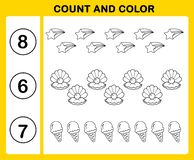 cuenta y color ilustración del vector