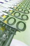 cuentas 100-Euro Imagen de archivo libre de regalías