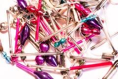 Cuentas de cristal para los ornamentos del árbol de navidad de la decoración Imagenes de archivo
