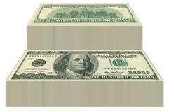 Cuentas de dólar Imágenes de archivo libres de regalías
