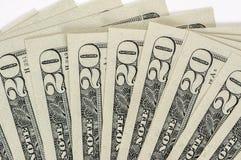 20 cuentas de dólar Imagenes de archivo