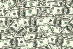 100 cuentas de dólar Fotos de archivo