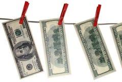 100 cuentas de dólar Imagen de archivo