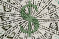 Cuentas de dólar americano Imagenes de archivo