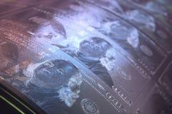 Cuentas de dólar de EE. UU. de la impresión Foto de archivo