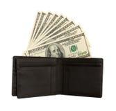 Cuentas de dólar los E.E.U.U. en carpeta Imagen de archivo libre de regalías