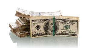 Cuentas de dinero del dólar foto de archivo