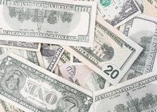 Cuentas de dólar americanas Imagenes de archivo