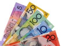 Cuentas de dólar australiano Fotos de archivo libres de regalías