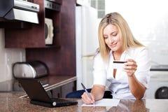 Cuentas de la tarjeta de crédito Fotografía de archivo