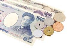 Cuentas de moneda de los yenes japoneses Imagenes de archivo
