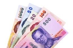 Cuentas de moneda del baht tailandés Fotografía de archivo libre de regalías