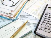 Cuentas de paga Fotografía de archivo libre de regalías