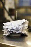 Cuentas de Resturant Fotografía de archivo libre de regalías