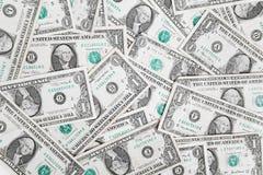 Cuentas de un dólar Imagen de archivo libre de regalías