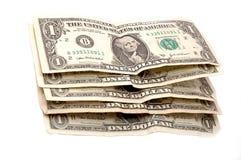 Cuentas de un dólar Imágenes de archivo libres de regalías
