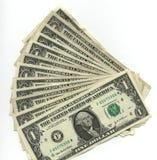 Cuentas de un dólar Foto de archivo libre de regalías