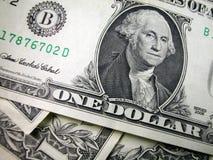 Cuentas de un dólar en pila Imagen de archivo