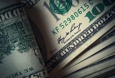 Cuentas del americano del dinero imágenes de archivo libres de regalías