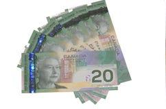 Cuentas del canadiense $20 Fotos de archivo libres de regalías