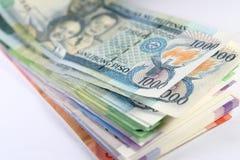 Cuentas del Peso filipino Foto de archivo libre de regalías