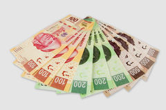 Cuentas del Peso mexicano Foto de archivo