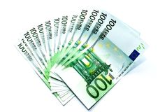 Cuentas euro Fotos de archivo