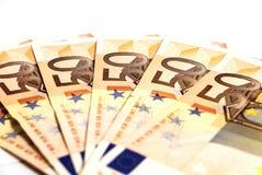 Cuentas euro Fotografía de archivo libre de regalías