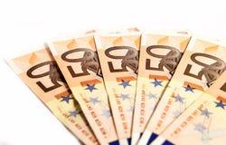 Cuentas euro Imagen de archivo