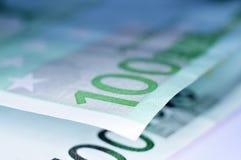 Cuentas euro Foto de archivo libre de regalías
