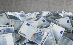 20 cuentas euro Imágenes de archivo libres de regalías