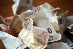 Cuentas euro Fotografía de archivo