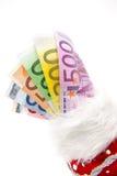 Cuentas euro aventadas Imágenes de archivo libres de regalías